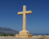 cross in blue sky