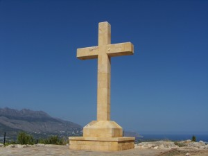 cross in blue sky