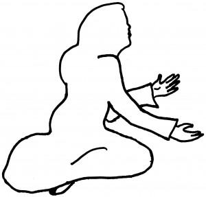 Kneeling Lady