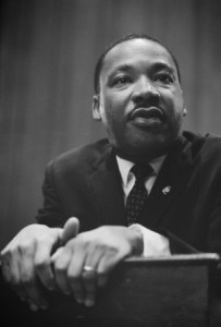 Black and White Picture of MLK
