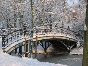 Snowy bridge