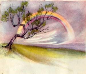 Rainbow on a Cloudy Day